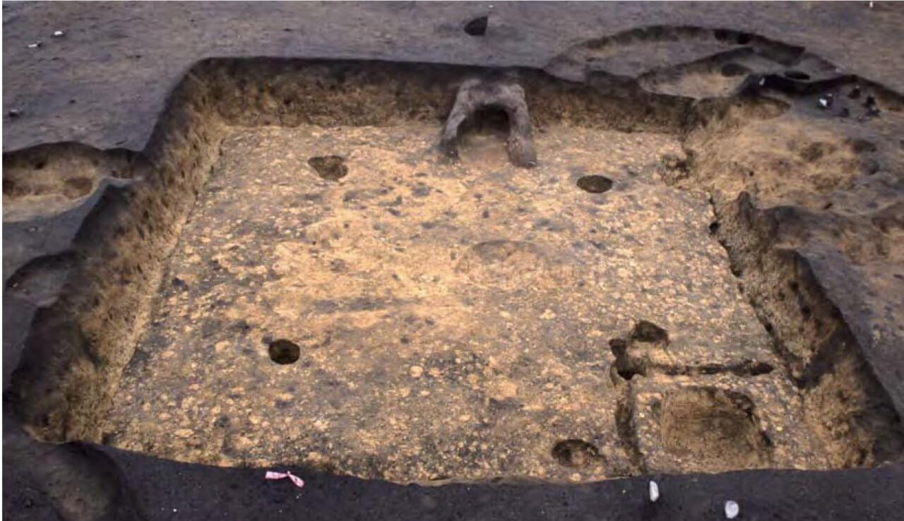 古墳時代の竪穴住居跡