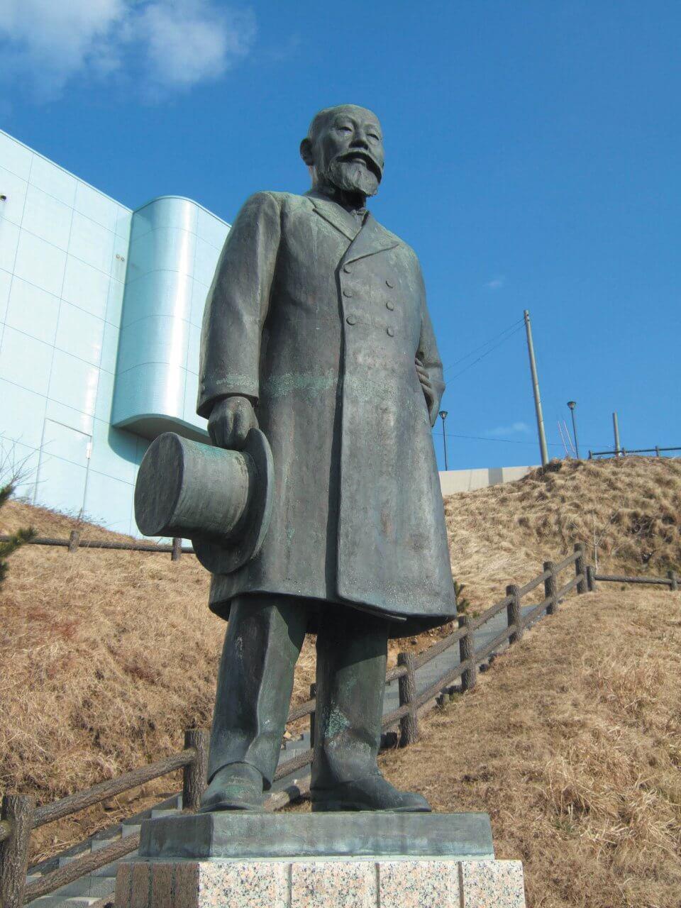 銅像(長谷川藤次郎)