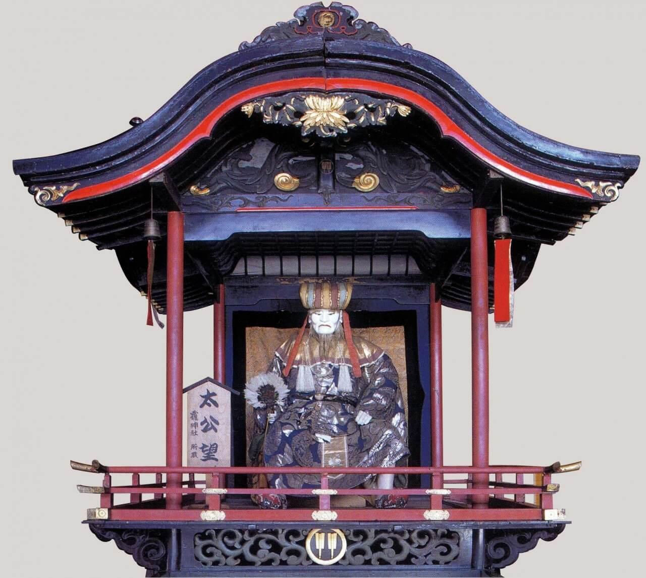 太公望と屋台一式(人形、屋台、飾り幕)