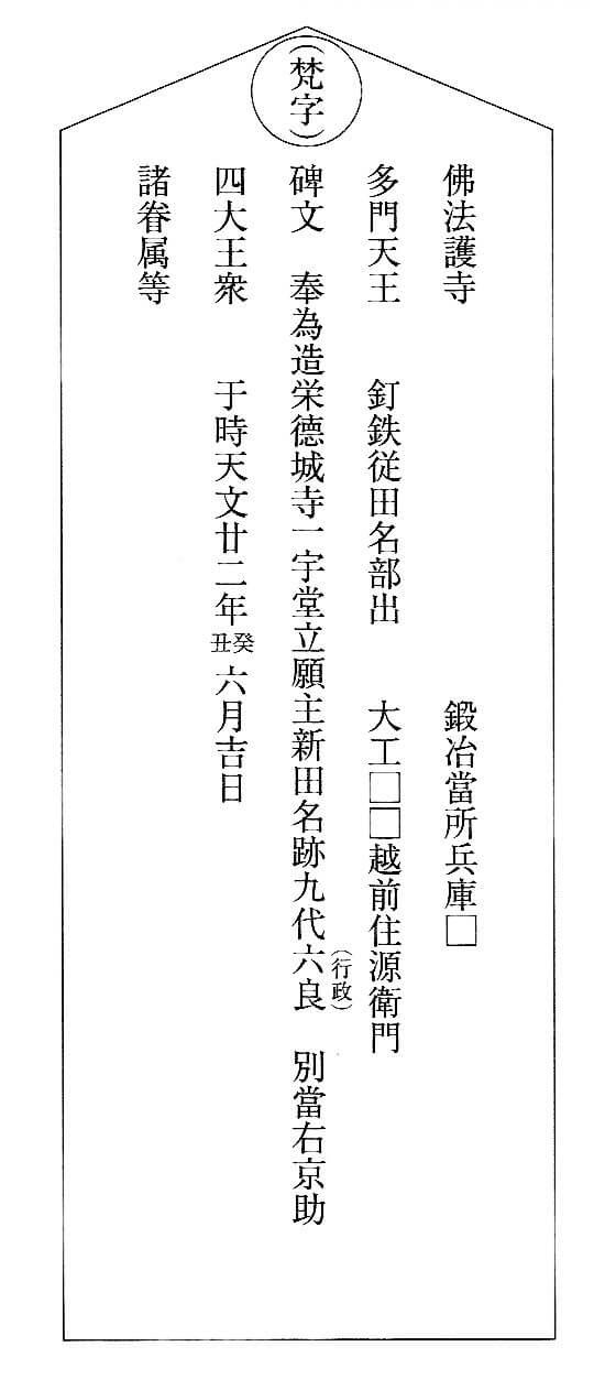 八戸徳城寺棟札