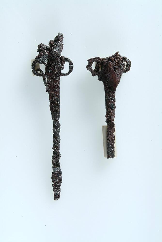 錫杖状鉄製品(上七崎遺跡)