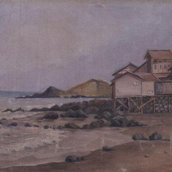 福田剛三郎《海濱風景》