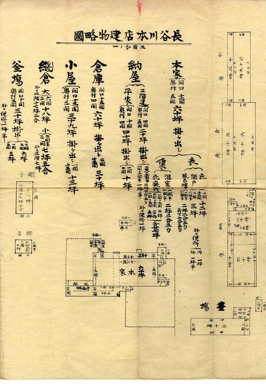 長谷川本店建物略図