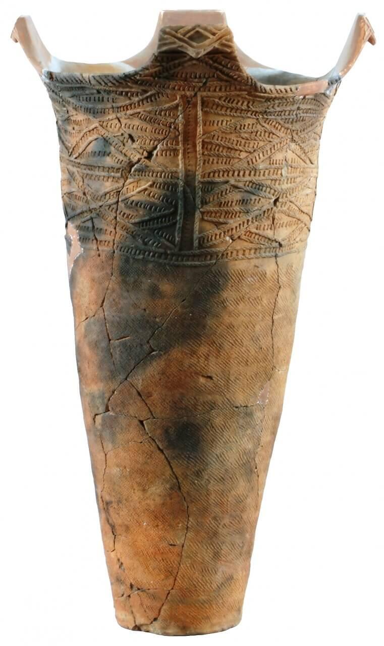 深鉢形土器 円筒上層c式(石手洗遺跡出土)