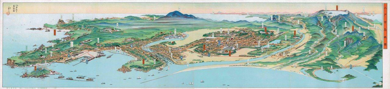 八戸市鳥瞰図