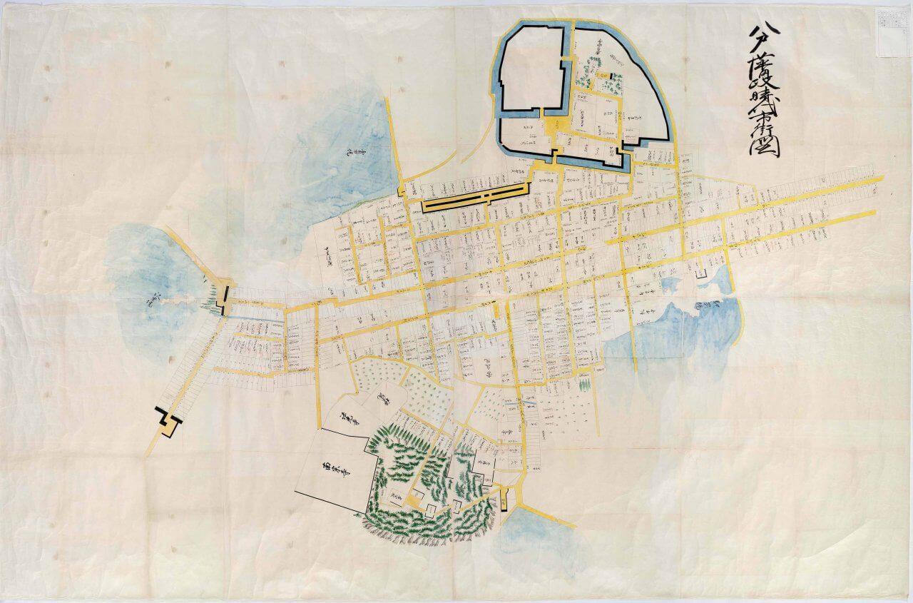八戸藩政時代市街図