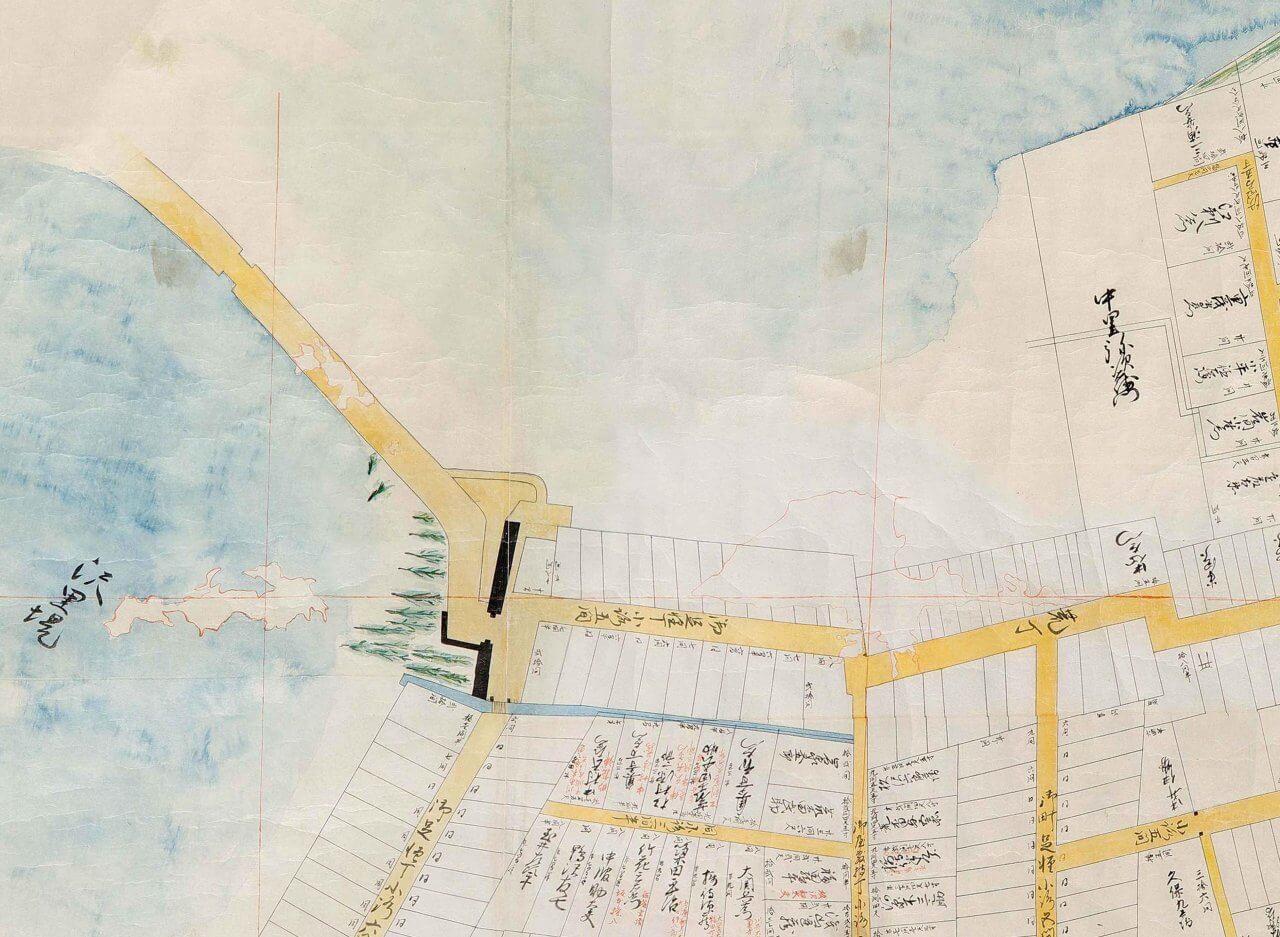 八戸藩政時代市街図(部分4)